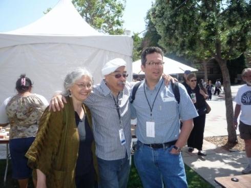 Joyce Jenkins, Juan Felipe Herrera and me