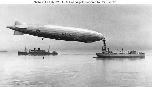 dirigible at sea