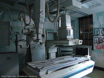 I will hold your entropy hand with Abandoned X-Ray Machine peeking into your Spirit of Weariness.