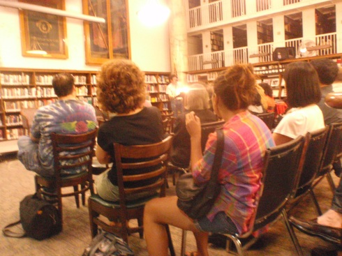 """""""Bryant Reading Room Word for Word Reading"""" June 30, '09 NYC 20 44th Street General Society for Mechanics and Tradesmen's Library"""