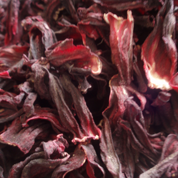 Dried hibiscus which she uses to make jamaica, chilled over ice, it has that dusty smell of sunshine on plants, it has that violet savor of sour bastard hours as if they might return.