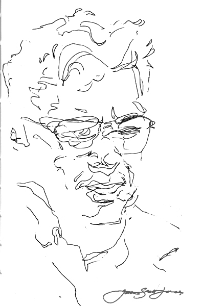 Jay drew me as I transsubstantiated into a caribbean cloud---