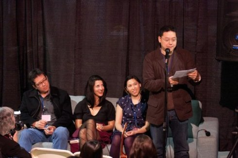 Ed Lin reading on the New Eclectics panel
