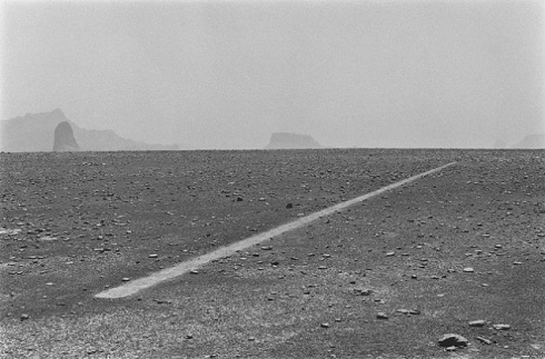 Dusty Boots Line by Richard Long