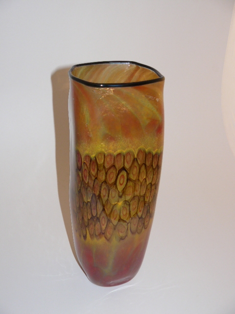 'Fire Dance Square' Vase by David Smallhouse