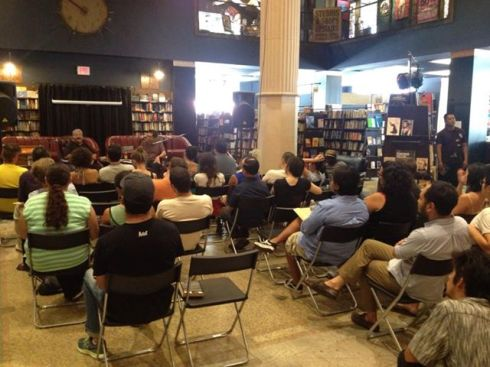 Talking the politics of poetry in L.A. at the Last Bookstore, September 7, 2013 thanks to Chiwan Choi
