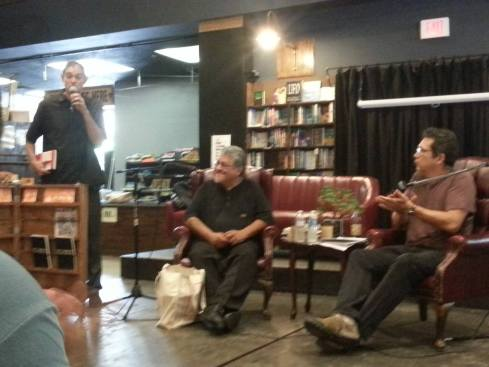 with Luis Rodriguez at the Last Bookstore, downtown L.A (intro by Mike Sonksen).
