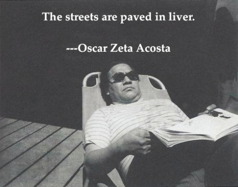 "oscar zeta acosta abstarct Oscar ""zeta"" acosta was not only large, he was larger than life the son of a peach picker, he was an activist lawyer who helped defend the ""eastside 13,."