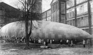 Airship built by factory workers, Moscow, 1924