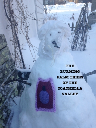 burning palm trees of the coachella valley