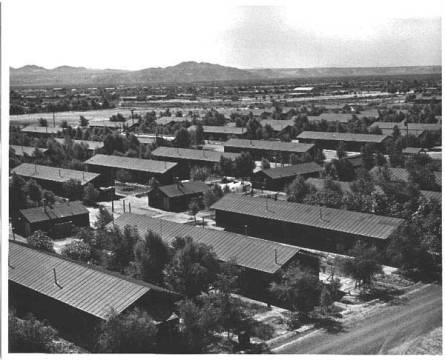 Poston War Relocation camp on the Colorado River Indian Reservation.